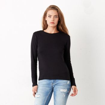 Baby rib long sleeve crew neck t-shirt Thumbnail