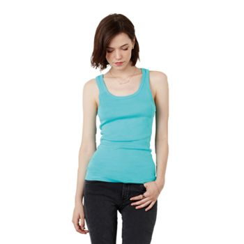 Sheer rib tank top Thumbnail