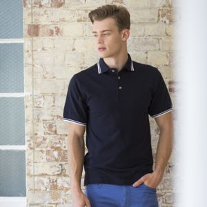 Double tipped collar and cuff polo shirt Thumbnail