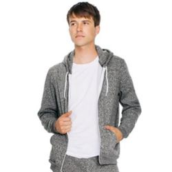 Salt and pepper zip hoodie (MT497) Thumbnail