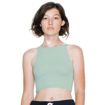 Cotton Spandex sleeveless crop top (8369) Thumbnail