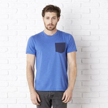 Unisex Jersey short sleeve pocket t-shirt Thumbnail