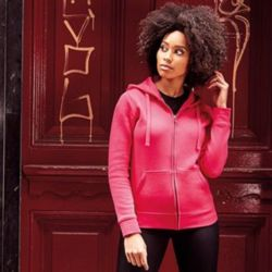 Women's authentic zipped hooded sweatshirt Thumbnail