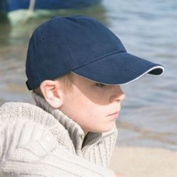 Junior low profile heavy brushed cotton cap with sandwich peak Thumbnail