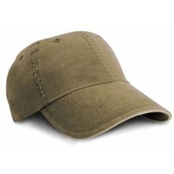 Washed fine line cotton cap with sandwich peak Thumbnail