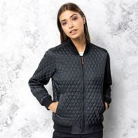 Women's quilted flight jacket Thumbnail