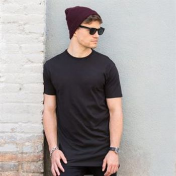 Longline t-shirt with dipped hem Thumbnail