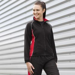 Women's piped microfleece jacket Thumbnail