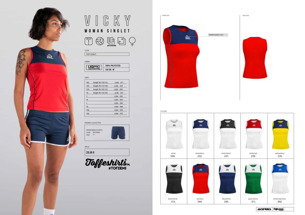 Acerbis Vicky Woman Singlet (Volleybal)