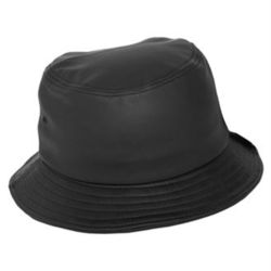 Imitation full leather bucket hat Thumbnail
