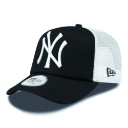 TIJDELIJK UITVERKOCHT New Era Clean Trucker NY Yankees Trucker cap Black/white Thumbnail