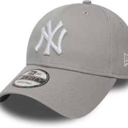 New Era 9Forty League Basic NY Yankees Dad cap Grey/white | New Era 940 LEAG BASIC New York Yankees  Thumbnail