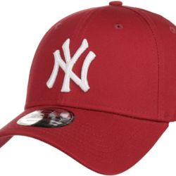 New Era 9Forty League Basic NY Yankees Dad cap cardinal/white | New Era LEAG ESNL 940 New York Yanke Thumbnail