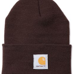Carhartt ACRYLIC WATCH HAT DARK BROWN Thumbnail