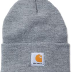 Carhartt ACRYLIC WATCH HAT HEATHER GREY Thumbnail