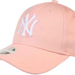 New Era WMN ESSENTIAL 940 New York Yankees Cap - Pink Sorbet - One size Thumbnail